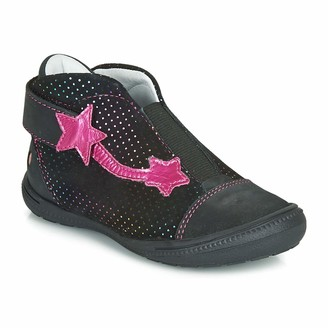 GBB NOLWENN Ankle Boots/Boots Girls Black/Pink - 6 UK Child - Mid Boots