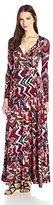 Rachel Pally Women's Long Sleeve Wrap Maxi Dress