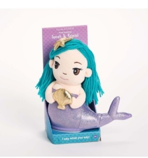 Twos Company Two's Company Speak-Repeat Plush Mermaid in Gift Box