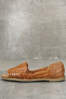 Sbicca Jared Tan Leather Huarache Flats