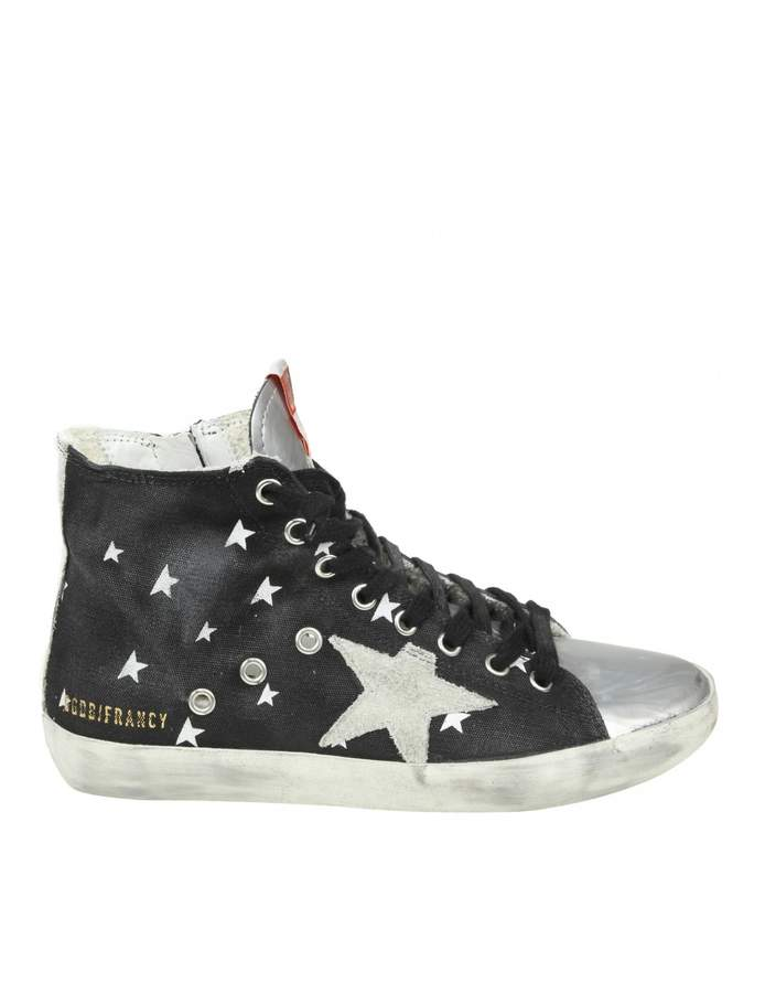 Golden Goose Sneakers francy In Jeans Effect Fabric Color Blue Petro