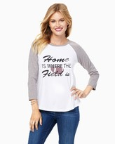 Charming charlie Home Is Where The Field Is Graphic Tee