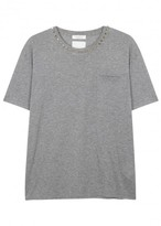 Valentino Rockstud Grey Cotton T-shirt