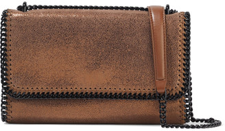 Stella McCartney Falabella Metallic Faux Brushed-leather Shoulder Bag