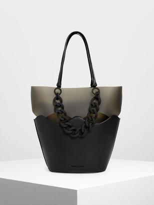 Charles & Keith Chunky Chain Tote Bag
