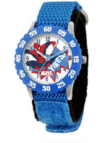 Marvel Spiderman Kids Blue Nylon Strap Watch