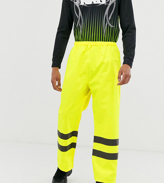 Reclaimed Vintage high-vis trousers in yellow