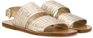 Fendi Kids TEEN embossed logo sandals