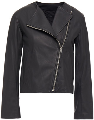 Joseph Alto Cropped Leather Biker Jacket