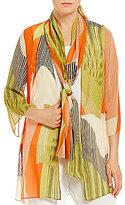 IC Collection Sheer Kimono Jacket with Scarf
