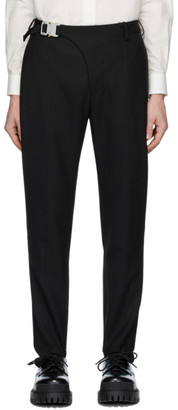 Alyx Black Wool Stirrup Suit Trousers