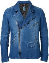 GUILD PRIME zip up denim jacket - men - Cotton/Polyester/Polyurethane - 1
