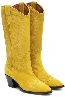 Paris Texas Suede knee-high cowboy boots