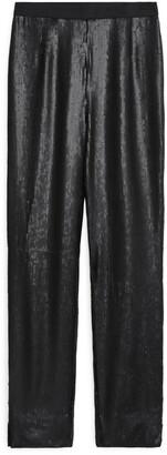 Arket Matte Sequin Trousers