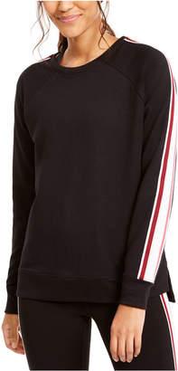 Ideology Varsity-Stripe French Terry Sweatshirt