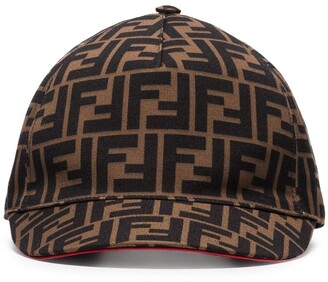 Fendi brown FF logo cotton baseball cap