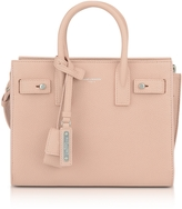 Saint Laurent Classic Pale Pink Grained Leather Nano Sac De Jour