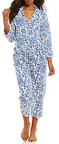 Lauren Ralph Lauren Scroll-Print Jersey Classic Capri Pajamas