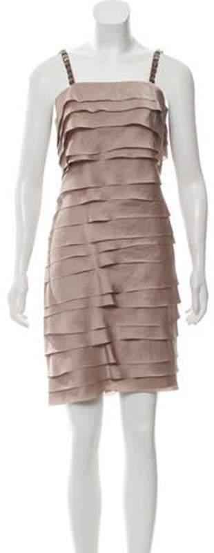 Lanvin Embellished Mini Dress Mauve Embellished Mini Dress