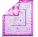 Dream On Me Pink Butterfly and Flower 5-Piece Reversible Full Size Crib Bedding Set