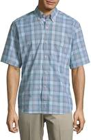 Tailorbyrd Men's Plaid Buttoned Cotton Shirt