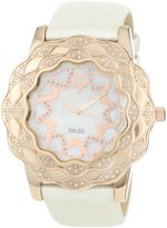 Brillier Women's 10-3A324-02 La Fleur Round Rose Gold Diamonds Analog Watch