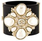 Chanel CC Pearl & Crystal Resin Bangle