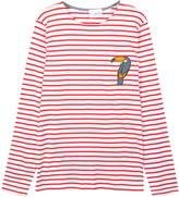 McIndoe Design - Toucan Patch Long-Sleeved T-Shirt Red & White