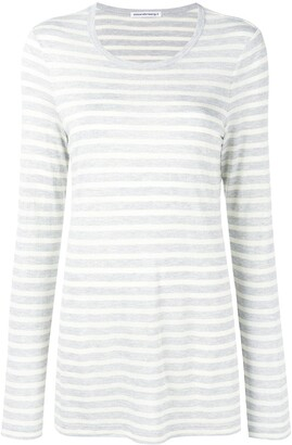 alexanderwang.t striped long sleeved T-shirt
