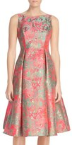 Adrianna Papell Women's Metallic Jacquard Fit & Flare Dress