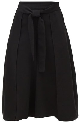 See by Chloe High-rise Belted Crepe Culottes - Black