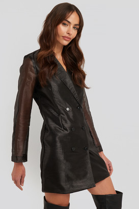 NA-KD Organza Blazer Dress Black