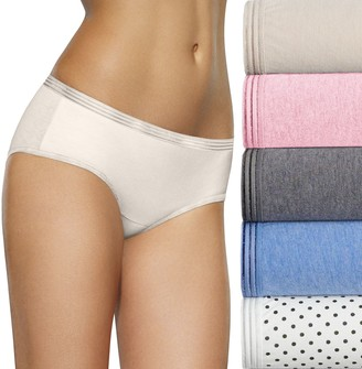 Fruit of the Loom Women's Signature 6-pack Ultra Soft Hipster Panties 6DUSKHP