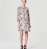 LOFT Woodblock Floral Shirtdress