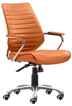 ZM Home Modern Low Back Adjustable Office Chair - Terra