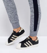 adidas Black And Gold Superstar 80s Sneakers