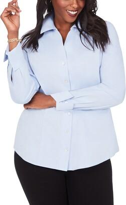 Foxcroft Lauren Non-Iron Pinpoint Button-Up Shirt