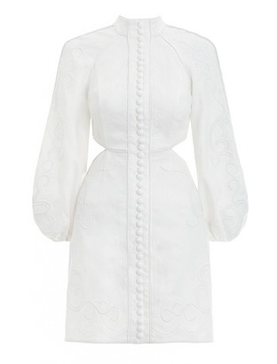 Zimmermann Bonita Corded Short Dress
