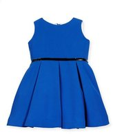 Helena Sleeveless Pleated A-Line Dress, Royal, Size 7-14