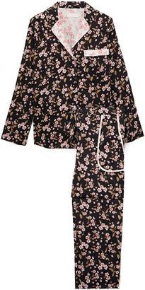 Yolke Floral-print Cotton-broadcloth Pajama Set