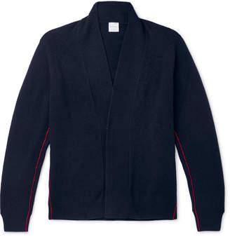 Paul Smith Shawl-Collar Striped Wool Cardigan