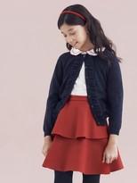 Oscar de la Renta Wool Tiered Skirt