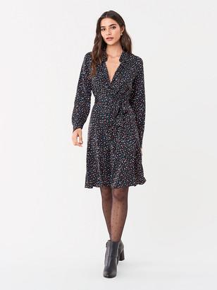 Diane von Furstenberg Dory Stretch Georgette Shirt Dress