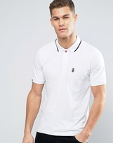 Luke 1977 Mead Core Pique Polo Tipped Small Logo In White