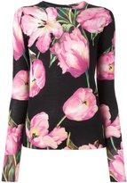 Dolce & Gabbana tulip print jumper