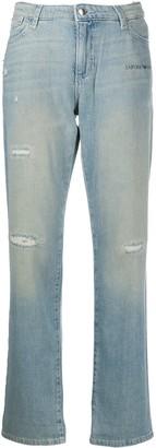Emporio Armani Logo Straight Leg Jeans