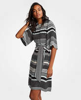 Ann Taylor Striped Tie Waist Shift Dress