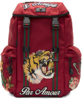 Gucci Red laveugle Par Amour Techpack Backpack