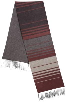 Saks Fifth Avenue COLLECTION Multi-Color Striped Cashmere & Silk Scarf