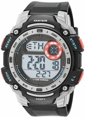 Armitron Sport Men's Digital Chronograph Watch with Black Resin Strap 40/8463RBK